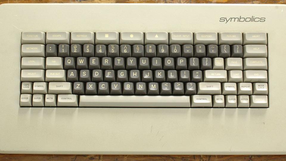 Symbolics keyboard