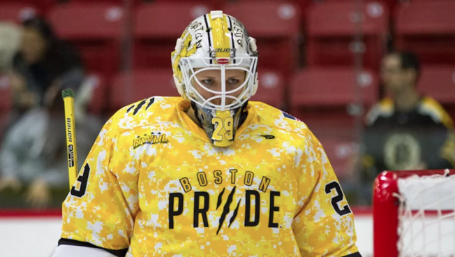 Brittany Ott of the NWHL Championship team, The Boston Pride