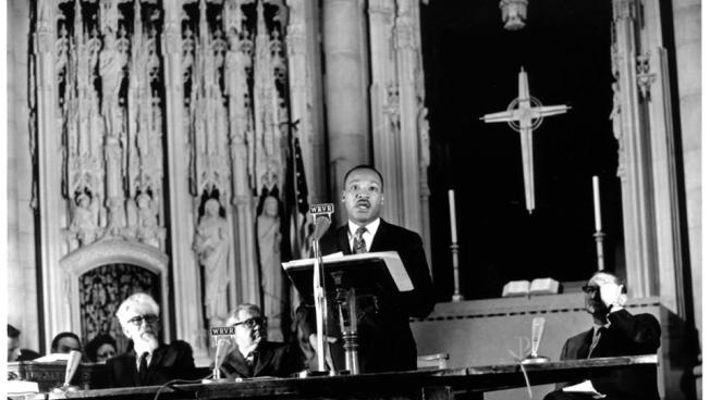 Martin Luther King Jr. At The Riverside Church In New York