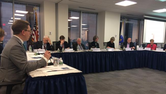 Health Policy Commission executive director David Seltz discusses health care costs with the commission Wednesday.