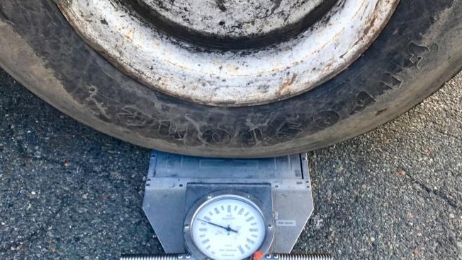 Tire on Scale