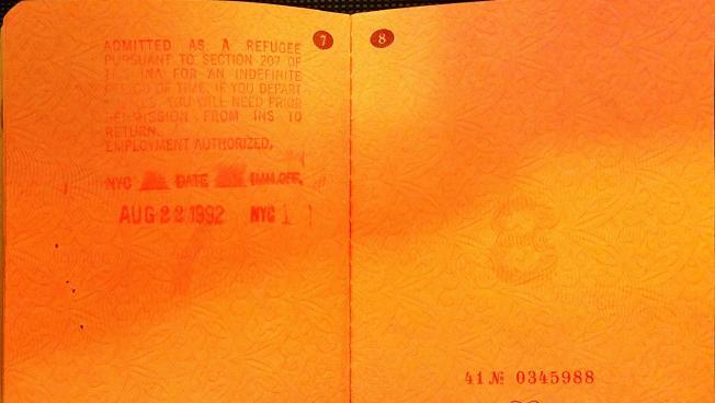 Passport of Uzbekistan Refugee who fled to the U.S. in 1992