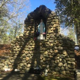 Grotto built at Camp Myles Standish