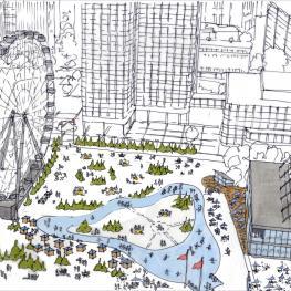 Artist rendering of City Hall Plaza