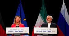 European and Iranian officials announce the Iran deal in Vienna