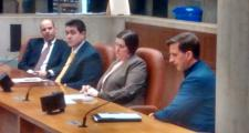 The Grand Prix of Boston team testifies before the Boston City Council on April 5, 2016.
