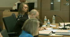 Michelle Carter and attorneys at trial
