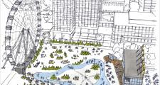 Artist rendering of City Hall Plaza