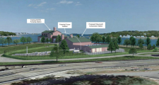 An artist's rendering of the gas-compressor station proposed for North Weymouth.