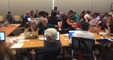 Hackers gather at WGBH for a hackathon on 2016 ballot question funding.