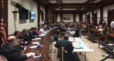 Healey testifies before the Legislature's budget committee.