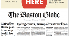Globe Editor McGrory Defends Above-The-Fold, Front-Page Ad