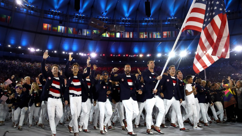 Why the American Olympic team does not dip the national flag.