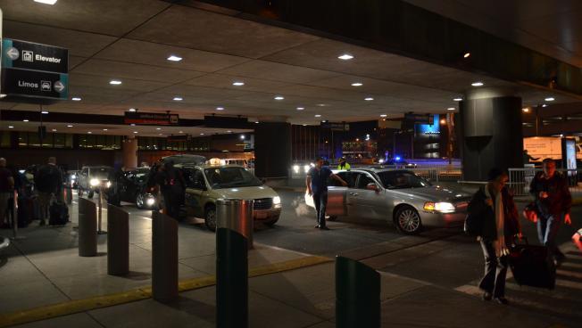 Cars at Boston Logan Airport (photo by Michael Kappel)