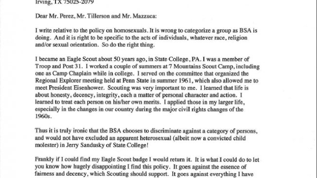 sample of reference letter local eagle scout reacts to revelation of boy scouts 1955