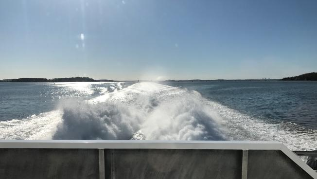The Ferry from Hingham to Boston