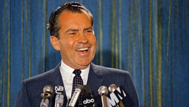 Donald Trump echoes Nixon's attacks on the press and the Washington Post.