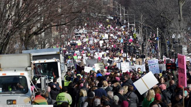 Boston Women's March 100,000 strong.