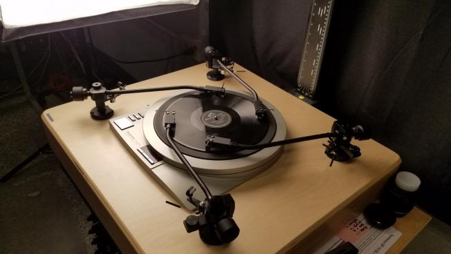 Four Stylus Record Player