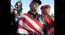 Native Americans demonstrate at their National Day of Mourning