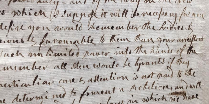 The Story Behind Abigail Adams Remember The La s Letter